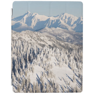 A Scenic View of Snowy Mountains and Trees. iPad Cover