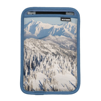A Scenic View of Snowy Mountains and Trees. iPad Mini Sleeve