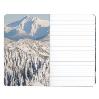 A Scenic View of Snowy Mountains and Trees. Journal