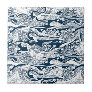 A School of Mermaids swim by Tile