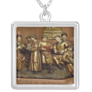 A School Silver Plated Necklace