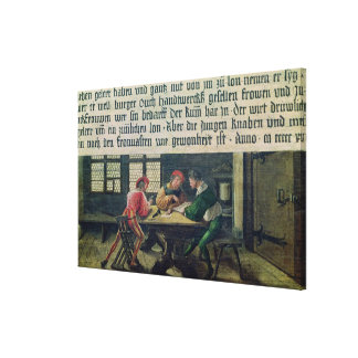 A School Teacher Canvas Print
