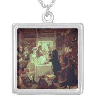 A Scottish Christening Silver Plated Necklace
