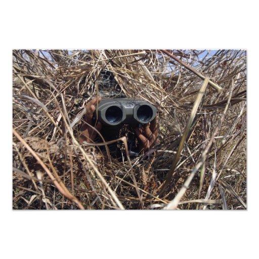 A scout observer practices observation techniqu photo art