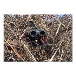 A scout observer practices observation techniqu photo print