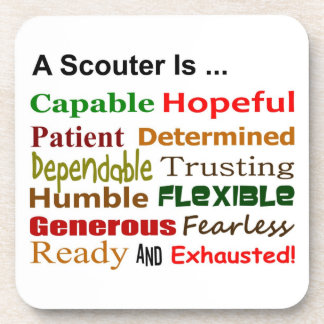 A Scouter Is... Coaster set