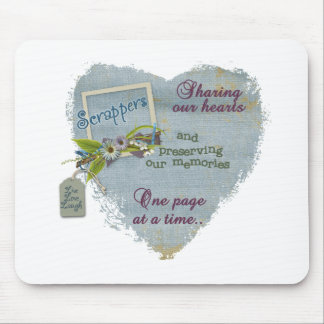 A scrappers heart mouse mat