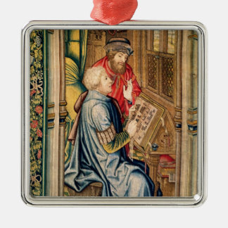 A Scribe Writing an Account Christmas Ornament