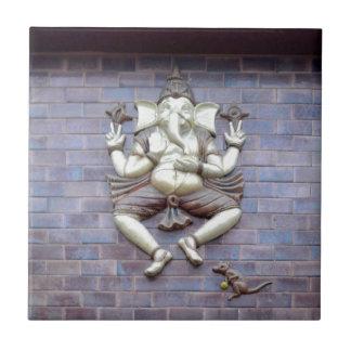 A sculpture of Hindu God Ganesha Small Square Tile