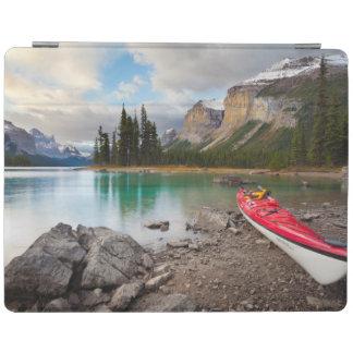 A sea kayak ashore at Spirit Island iPad Cover