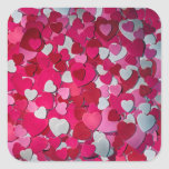 A Sea of Lovely Hearts for Love Square Sticker