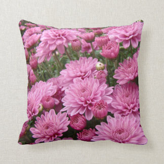 A Sea of Pink Chrysanthemums #2 Throw Cushions