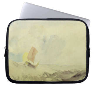 A Sea Piece - A Rough Sea with a Fishing Boat, 182 Laptop Sleeve