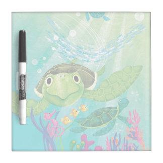 A Sea Turtle Rescue Dry Erase Board