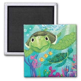 A Sea Turtle Rescue Magnet
