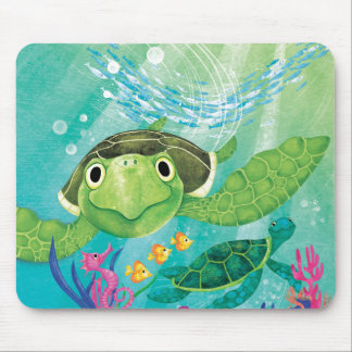 A Sea Turtle Rescue Mouse Pads
