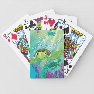 A Sea Turtle Rescue Poker Deck