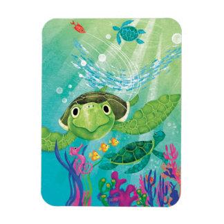 A Sea Turtle Rescue Vinyl Magnet