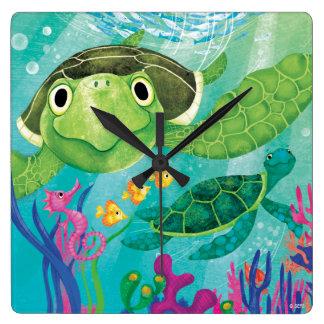 A Sea Turtle Rescue Wallclock