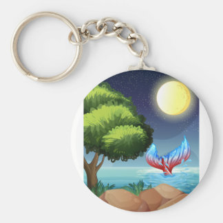 A sea with a tail of a mermaid key ring