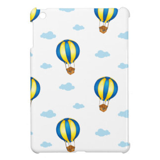A seamless design with big floating balloons cover for the iPad mini