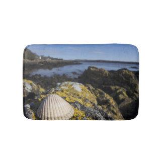 A Seashell Sits On A Rock | Dumfries, Scotland Bath Mat