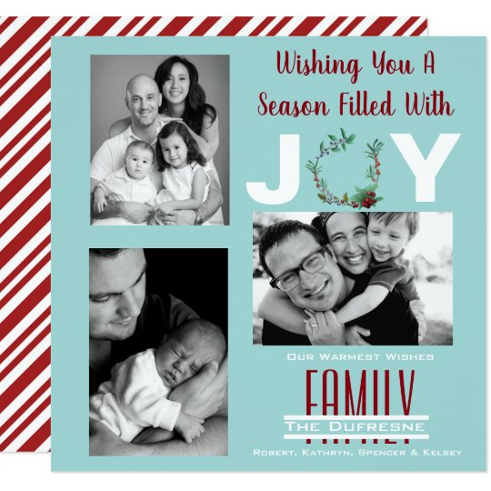 """""""A Season Filled With Joy"""" Personalised Christmas Card"""