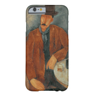 A seated man leaning on a table barely there iPhone 6 case