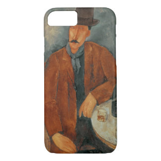 A seated man leaning on a table iPhone 8/7 case