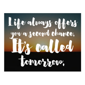 A Second Chance Quote Postcard