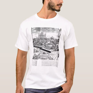 A Section of a Map of Milan, 1640 T-Shirt