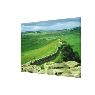 A section of Hadrian's Wall, 2nd century AD (stone Canvas Print