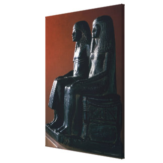 A seigneurial couple in ceremonial clothes, New Ki Stretched Canvas Prints