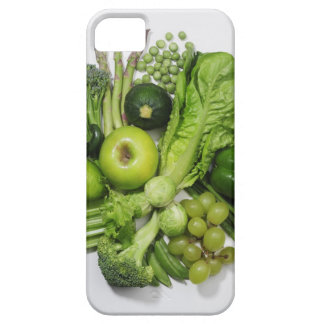 A selection of green fruits & vegetables. barely there iPhone 5 case