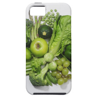 A selection of green fruits & vegetables. tough iPhone 5 case
