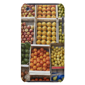 A selection of organic boxed fruit on iPod touch cover