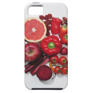 A selection of red fruits & vegetables. case for the iPhone 5