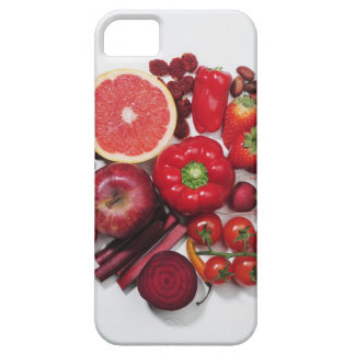 A selection of red fruits & vegetables. iPhone 5 cover