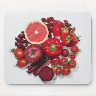 A selection of red fruits & vegetables. mouse mat