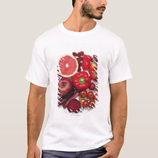 A selection of red fruits & vegetables. T-Shirt