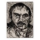 A self-portrait of the artist Lovis Corinth. 1920 Postcard