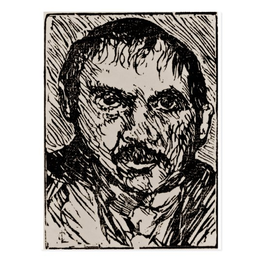 A self-portrait of the artist Lovis Corinth. 1920 Postcard