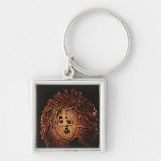 A Seneca mask used in winter rites Key Chain