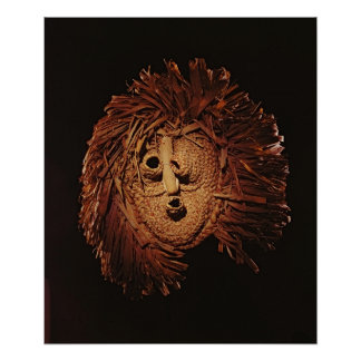 A Seneca mask used in winter rites Poster