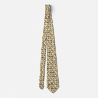 A Sepia Circle on Sepia Rectangle Tie