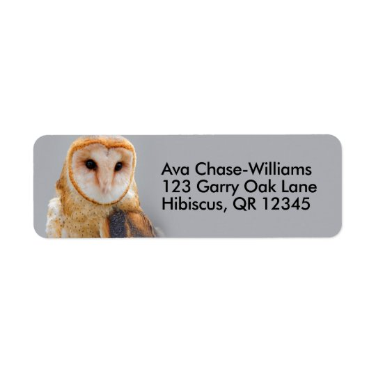 A Serene Barn Owl Return Address Label
