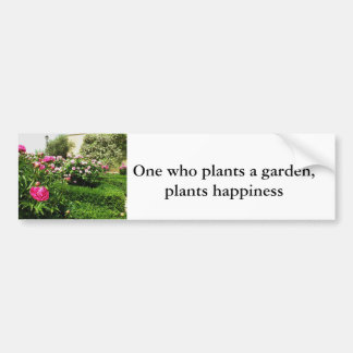 A Serene Rose Garden Car Bumper Sticker