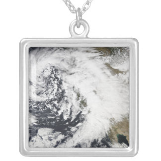 A series of strong storms with fierce winds silver plated necklace