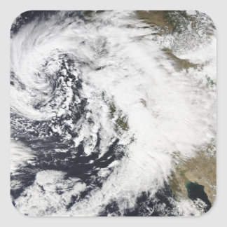 A series of strong storms with fierce winds square sticker