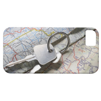 A set of car keys on a pile of road maps. barely there iPhone 5 case